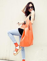 Wholesale Fashion women s Shopping bag Color shopping bag Candy bag PU bags new style