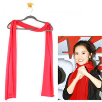 Wholesale Fashion pure color scarves knit Shawls Watermelon red long Cotton scarves g cm