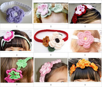 Crochet baby headbands girl 100% cotton 0- 8Y size 10pcs lot ...