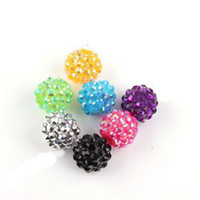 Wholesale 126pcs Mixed Acrylic Carved Rhinestones Charms Spacer Beads Fit European Beads Bracelets DIY