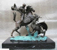 Wholesale St George Dragon Slayer Religious Horse Bronze Statue Height Longth Wildth inch