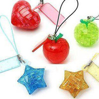 Wholesale DIY TOY MINI D Crystal Puzzle apple shaped and Retail popular