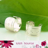 Wholesale WHCEC006 mm fashion silver ear cuffs with hole sell by