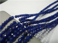 gemstone faceted beads - 4mm Faceted Blue Sapphire Gemstone Loose Beads quot