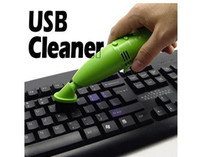 Wholesale USB Vacuum Keyboard Cleaner Mini Dust Cleaner with LED for PC Laptop Computer Christmas