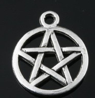 Wholesale of Star Pentagram Jewelry Pendant metal alloy Charm x mm