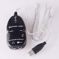 Wholesale electric Guitar to USB Interface Link Cable for PC Mac Recording