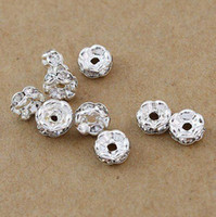 Wholesale Spacers MM Jewelry Findings amp Accessories B Rhinestone beads Spacers hot sale