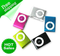 Wholesale 30PCS MINI Clip MP3 Playes suport GB GB GB GB micro sd tf Card Reader Function