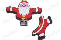 Wholesale 10pcs Brand New Affable Santa Claus Shaped GB USB Drive Flash Memory Stick U Disk