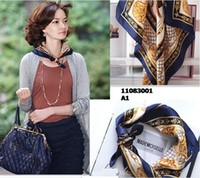 Wholesale Christmas gift silk scarf square cms silk scarves fashion design office lady fashion