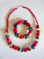 Wholesale Fashion jewelry sets G0017 Natural jade Red agate jade necklace and bracelet sets
