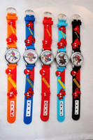 Wholesale 50pcs Spiderman kids D Cartoon Watches Boys Fashion Dress Wristwatch Childrens Plastic Strap Watch