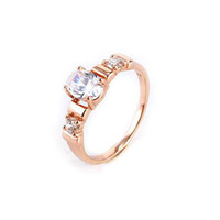 Wholesale 18KGP ROSE GOLD CT BRILLIANT CUT GEMSTONE ENGAGEMENT RINGS COME WITH A GIFT BOX