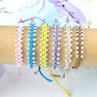 Wholesale CCB Beads monochrome soft string handmade bracelets friendship bracelets BR B