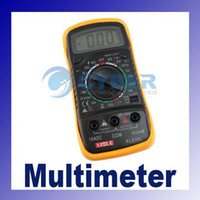 Wholesale LCD Digital XL830L Multimeter AC DC VOLT Meter Voltmeter Ohmmeter Ammeter Yellow Back Cover