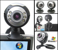 Wholesale Mini Webcam Mega USB LED Webcam Camera PC Laptop Mic Very Portable Built in Microphone