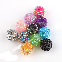 Wholesale 220pcs Mixed Acrylic Rhinestone Iced Charms Disco Beads mm Fit Beads Bracelets DIY