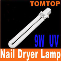 Wholesale 20pcs W Nail Art UV Gel Dryer White Light Lamp Tube H4505