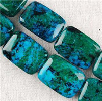 azurite beads - 10X14mm Azurite Chrysocolla Gemstones Loose Beads quot
