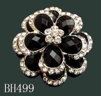 Other asian wedding pictures - Women Silver plated Zinc alloy rhinestone flowers Brooches costume jewelry pictures colors BH499