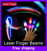 Wholesale Christmas gifts LED Bright Finger Ring Lights Rave Party Glow x Color kids toys