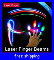 Wholesale Cheap LED Bright Finger beams Ring Lights Rave Party Glow x Color laser fingers kids toys