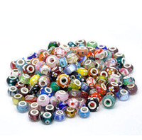 With Metal Elements Other  Free Shipping 1000Pcs Lampwork Glass Beads Murano Mixed European Fashion, Fit BIAGI Bracelet,Jewelry