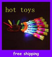 Wholesale new Christmas gift LED amazing arrow Flying helicopter umbrella kids toys