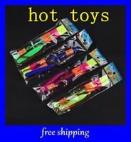 Wholesale Newest LED Amazing flying arrows helicopter umbrella light parachute kids toys