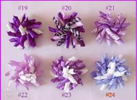 Enfants bigoudis 500pcs arcs fleurs cheveux barrettes enfants korker ruban cheveux clip rt10