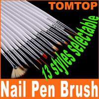 Wholesale Hot sale set Nail Art Brush Set Painting Dotting Design White Pen H4557