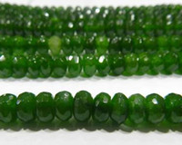 abacus gemstone - 5x8mm Faceted Emerald Abacus Loose Beads Gemstone quot
