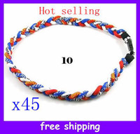 Wholesale Christmas gifts ropes x45 Titanium Germanium Sports Necklace