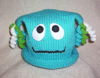 Baby ghost hats handknit crochet halloween 0- 3Y children&#03...
