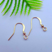 Wholesale Whole sale and retail k gold plated ear hooks earing wire MP50004 x12mm