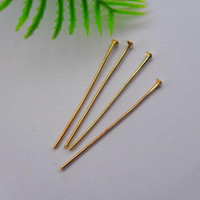 Wholesale Whole sale and retail k gold plating jewelry finding head pin MP610012 x0 mm