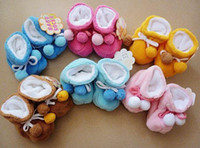 Wholesale 2pcs Cute baby coral velvet ball warm shoes cotton padded shoes baby shoes shoieoevjioe