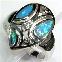 Unisex beautiful opal rings - beautiful face green opal Silver Plated ring R218 SZ First class products Recommend Promotion Favourite Best Sellers