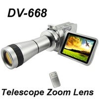 Wholesale Digital camcorder DV DVC PC x optical Zoom With Telescope digital vide Camera DV T Lens