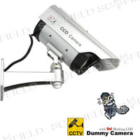 Wholesale Realistic Looking Fake Dummy Solar Powered Security CCD Camera with Red Blinking LED SS105236