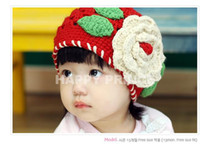baby hat - handmaded Crochet baby hat BH knitted flower hats Baby knitted Hats hand hook infant hat