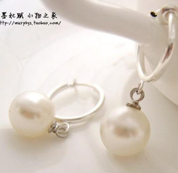 real white South Sea Mabe Pearls earrings