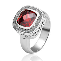 Wholesale The new style K white gold ruby ring jewelry wedding ring fine jewelry can do