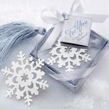 Wholesale Factory directly sale wedding favor Snowflake bookmark