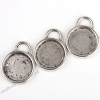 Wholesale 180 FREE EMS Pendant Tray Round Cabochon Setting Silver Plated Fit Jewelry Display diy