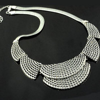 Wholesale Alloy Casting Necklace Fashion Costume Jewelry Silver Necklaces Costume Jewellery NL