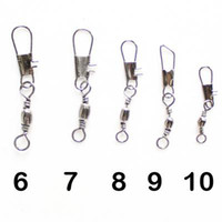 Wholesale 100pcs CASTORM stainless steel swivels fishing rolling swivel with nice snap