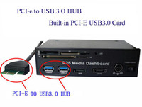2-4 usb 3.0 hub - 5 Media Dashboard PCI e to USB HUB and USB2 All in one card reader with SATA AND ESATA Slot