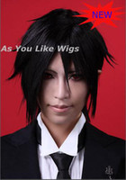 Wholesale New Arrival Sebastian Michaelis kuroshitsuj Black Short Cosplay Wig Party Hair Wig J38